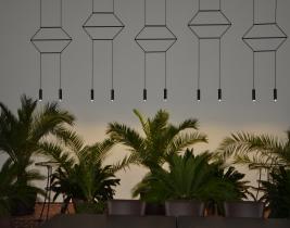 dizajnové led osvetlenie reštaurácie