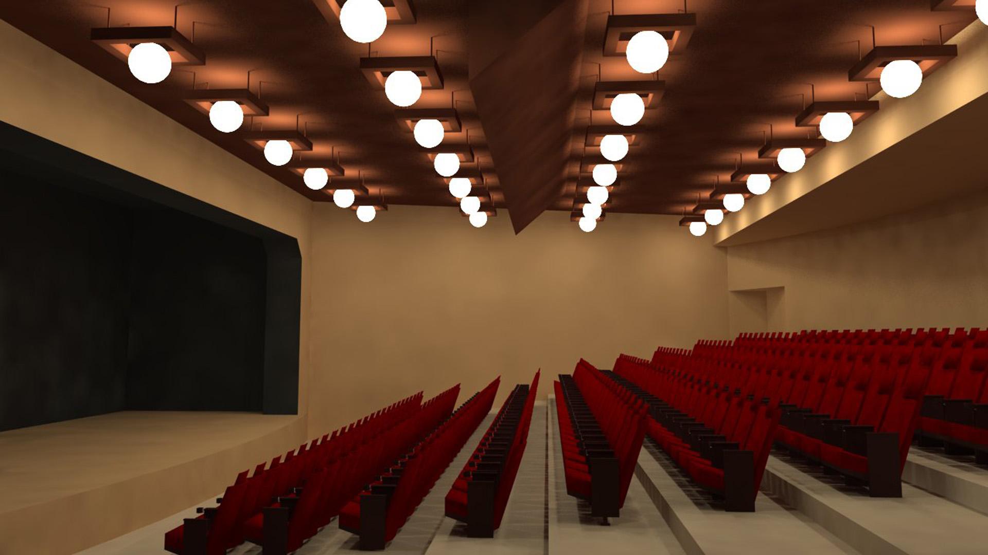 vizualizácia LED kino
